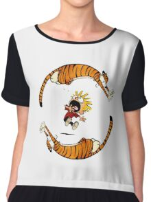 Calvin And Hobbes Fun Chiffon Top
