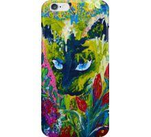 Garden Hunter - Cat Painting Garden Flower Art Hand Painted Design iPhone Case/Skin