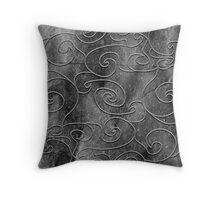 Graphite swirls Throw Pillow