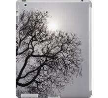 Pearly Silver Sky Filigree iPad Case/Skin