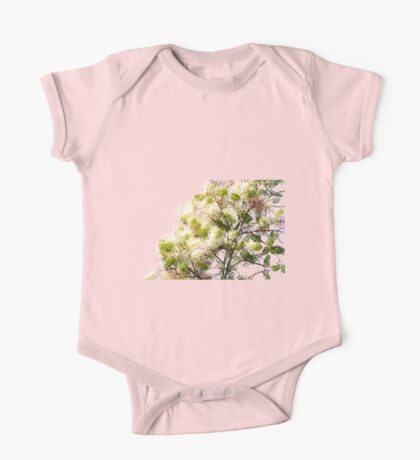 Pink, Green, Yellow Colourful Tree One Piece - Short Sleeve