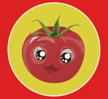 Kawaii red Single tomato One Piece - Long Sleeve