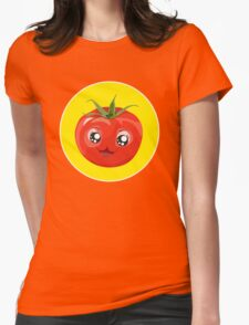 Kawaii red Single tomato Womens Fitted T-Shirt