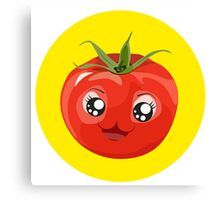 Kawaii red Single tomato Canvas Print