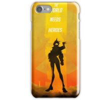 The world needs heroes iPhone Case/Skin