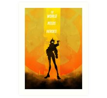 The world needs heroes Art Print