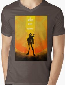 The world needs heroes Mens V-Neck T-Shirt