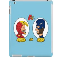 Stank Versus Cap - Beavis and Butthead Parody iPad Case/Skin