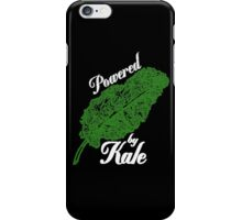 Awesome Unique Vegan T-Shirt - Powered By Kale For Men And Women iPhone Case/Skin