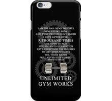 Unlimited Gym Works iPhone Case/Skin