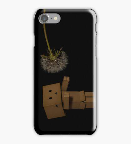 Danbo huging dandilion iPhone Case/Skin