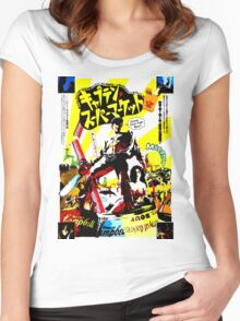 Trapped in time. Surrounded by evil. Low on gas. Women's Fitted Scoop T-Shirt