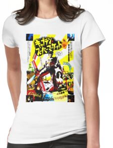 Trapped in time. Surrounded by evil. Low on gas. Womens Fitted T-Shirt