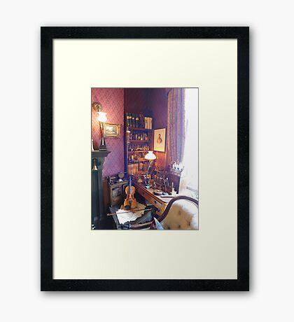 221B Baker Street Details Framed Print