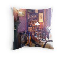 221B Baker Street Details Throw Pillow