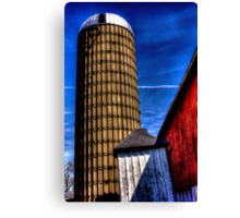 SIlo and Red Barn Canvas Print