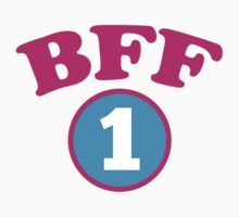 BFF 1 Best friends forever number 1 with matching 2 Kids Clothes