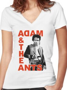 ADAM AND THE ANTS t-shirt Women's Fitted V-Neck T-Shirt