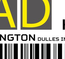Destination Washington Airport Sticker