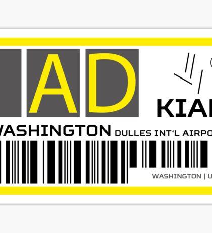 Destination Washington Airport Sticker
