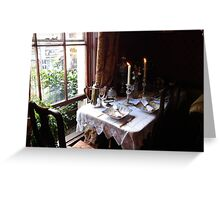Table for two in Baker Street Greeting Card