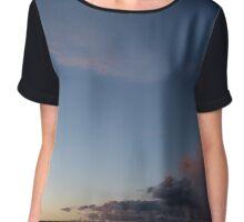 Sunset Sky Chiffon Top