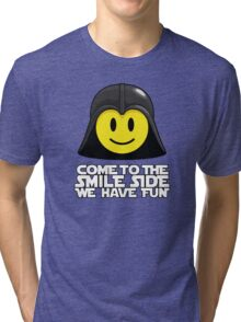 Darth Smiley - Come to the Smile Side Tri-blend T-Shirt