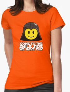 Darth Smiley - Come to the Smile Side Womens Fitted T-Shirt
