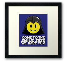 Darth Smiley - Come to the Smile Side Framed Print
