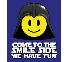 Darth Smiley - Come to the Smile Side Photographic Print