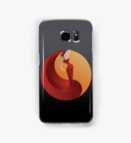 Art Deco styled Spain Flamenco dancer Samsung Galaxy Case/Skin