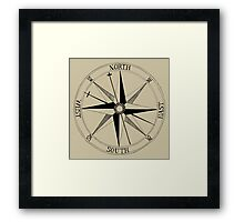 Antique Compass Rose Framed Print