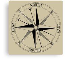 Antique Compass Rose Canvas Print