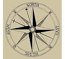 Antique Compass Rose Photographic Print