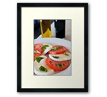 Caprese Salad Framed Print