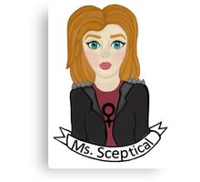 Punk Dana Scully - Ms. Sceptial  Canvas Print