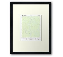 USGS TOPO Map Alabama AL Bilbo Island 20110910 TM Framed Print