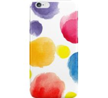 watercolor pattern.  hand painted watercolor circles _2 iPhone Case/Skin