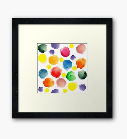 watercolor pattern.  hand painted watercolor circles _2 Framed Print