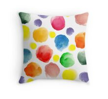 watercolor pattern.  hand painted watercolor circles _2 Throw Pillow