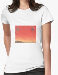 The Elephants by Dali  Womens Fitted T-Shirt