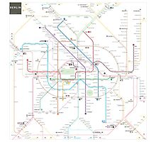 Berlin U-Bahn S-Bahn map Photographic Print