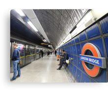 London Bridge's Underground Canvas Print