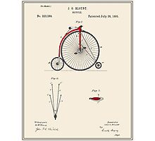 High Wheel Bicycle Patent Photographic Print