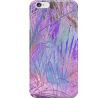 Pastel lavender pink teal watercolor tropical palm trees iPhone Case/Skin