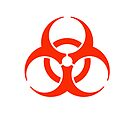 Biohazard symbol; Biological hazard in red by TOM HILL - Designer