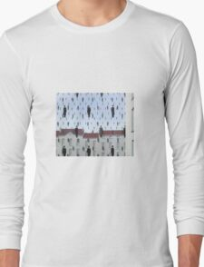 Golconda by Magritte  Long Sleeve T-Shirt