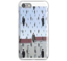Golconda by Magritte  iPhone Case/Skin