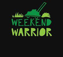 WEEKEND WARRIOR with green lawn mower Unisex T-Shirt