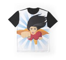 Super woman flies right at you Graphic T-Shirt